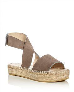 198.00$  Buy now - http://viyzn.justgood.pw/vig/item.php?t=k4jcfk28690 - Bettye Muller Seven Suede Ankle Strap Platform Espadrille Sandals 198.00$