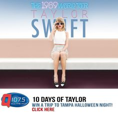 Win a Trip to see Taylor Swift in Tampa FL Halloween night! More info at http://Q1075.com