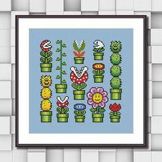 Super Mario Flowers Sampler Cross Stitch Pattern   Craftsy