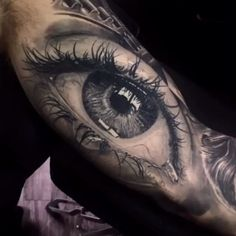 Realistic eye arm tattoo - Realistic eye arm tattoo You are in the right place about Realistic eye arm tattoo Tattoo Design And - Badass Tattoos, Tattoos For Guys, Cool Tattoos, Best Tattoo, Amazing 3d Tattoos, Unique Tattoos, Hand Tattoos, Body Art Tattoos, Eye Tattoos