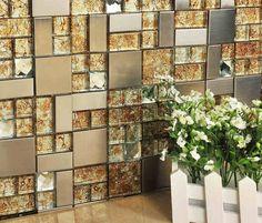 Tallado flor parto electrochapa azulejos de mosaico hmgm1102 backsplash de la cocina azulejo - Pegatinas para azulejos ...