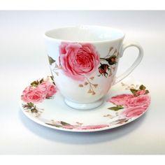 Zestaw 2 Porcelanowych Filiżanek 220 ml-Windsor Porcelana Łódź Glass Art, Tea Cups, Tableware, Porcelain Ceramics, Dinnerware, Tablewares, Dishes, Place Settings, Cup Of Tea
