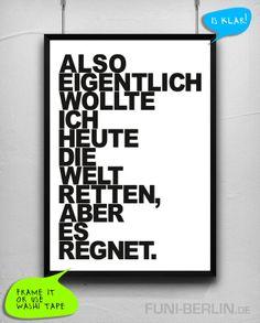 """Poster """"REGEN."""" // poster by Funi Berlin"""