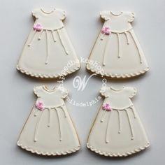 Christening Dress Cookie Favors