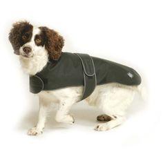 Waxed Fleece Dog Coat