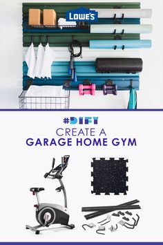 Shop products to create a dream home gym in your garage with Lowe's.