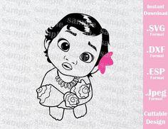 Princess Moana Baby Birthday Girl Disney Inspired Cutting File in SVG, – Ideas with love Moana Disney, Disney Drawings, Cool Drawings, Drawing Disney, 3d Templates, Cricut Cuttlebug, Moana Party, Moana Birthday, Baby Drawing