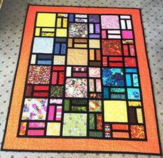 (7) Name: 'Quilting : Stained glass quilt designed by Bob