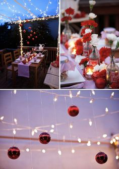 Christmas Or Even Valentines Day Dinner Party Decor Decorations