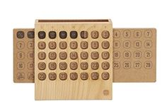 Wooden Block Daily Perpetual Calendar - The Quick Gift
