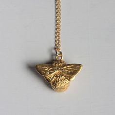 Gold Queen Bee Necklace