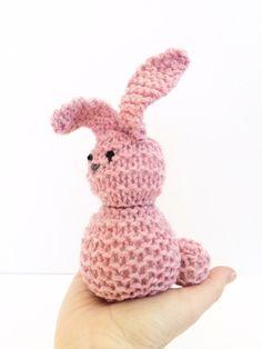 Hand Knit Bunny Rabbit   Waldorf Toys   Farm Animals by HazardBaby