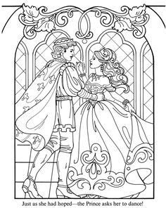 Detailed Medieval Princess Coloring Pages   fantasy prince and princess to color