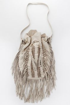 Dreamweaver Bag - Cream Leather | Hippie boho bohemian gypsy style. For more follow www.pinterest.com/ninayay and stay positively #pinspired #pinspire @ninayay