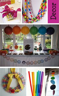 Rainbow, Art Birthday Party Idea Alessandra's 5 th bday party Rainbow Parties, Rainbow Birthday Party, Art Birthday, 6th Birthday Parties, Birthday Ideas, Art Themed Party, Art Party, Festa Party, Party Planning