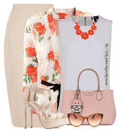 """""""~  Floral Cardigan  ~"""" by pretty-fashion-designs ❤ liked on Polyvore featuring Oasis, H&M, Armani Jeans, Karl Lagerfeld, Charlotte Russe and Diane Von Furstenberg"""