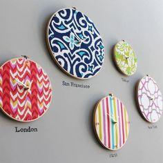 DIY Embroidery Hoop Clock | 11 DIY Clock Ideas For Your Bedroom