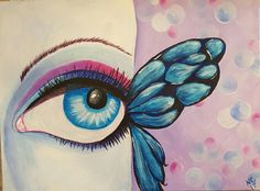 Butterfly eye done from tutitorial  from The Art Sherpa.