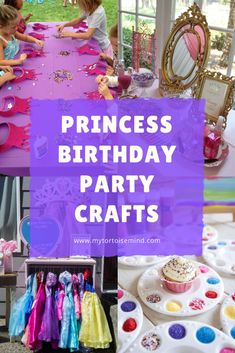 Princess theme crafts, games and activities for a princess birthday party Princess Birthday Party Games, Princess Theme, 1st Birthday Parties, Disney Princess Dress Up, Princess Crafts, Ballerina Party, Little Girl Birthday, Kids Party Games, Fancy Party