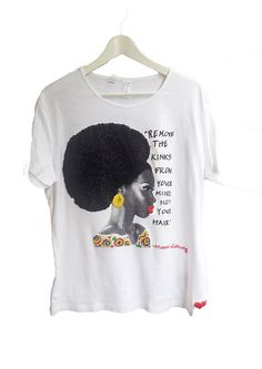 Afro Curly Tshirt, Marcus Garvey quote Natural Hair Tee, Afro T shirt ,Black Pride