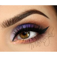 Makeup Geek Duochrome Eyeshadows in Blacklight and I'm  Peachless. Look By: maxineczka