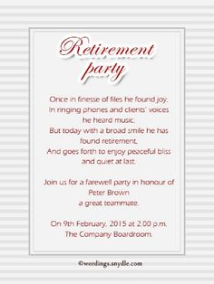 Farewell Party Invitation Text