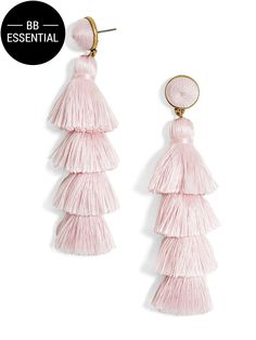Color: Blush | Gabriela Stud Tassel Earrings