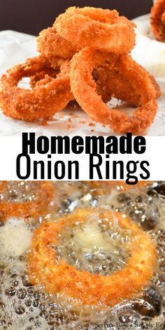Crunchy Homemade Onion Rings are the absolute best! Crunchy panko topping make these a family favorite and perfect to enjoy while watching the game from Serena Bakes Simply From Scratch. Best Appetizers, Appetizer Recipes, Snack Recipes, Cooking Recipes, Snacks, Homemade Onion Rings, Tailgating Recipes, Tasty Dishes, Comfort Foods