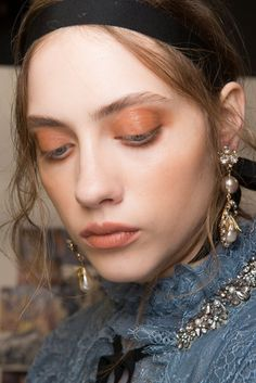 The Beauty Looks Seriously Stunned at London Fashion Week Erdem S/S 2017  Hair: Anthony Turner for ghd  Makeup:  Val Garland for NARS Cosmetics