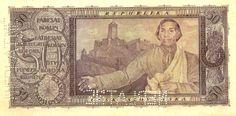 CzechoslovakiaP16s-50Korun-1922-donatedvl_b Banknote, Vintage World Maps, Coins, Retro, Painting, Art, White People, Historia, Nostalgia