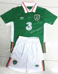 Cheap soccer jersey from topjersey 2016 European Cup Ireland Home Green Kids/Youth Soccer Uniform-Ireland,Youth and Kid set| topjersey