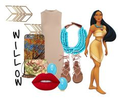 """""""Willow Daughter of Pocahontas"""" by savvi-ray ❤ liked on Polyvore featuring Sole Society, Tart, Patricia Nash, Kenneth Jay Lane and Lime Crime"""