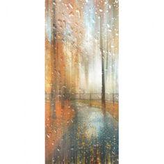 Διακοσμητική αφίσα με βροχερό τοπίο 90x200cm   eshop-dcse Curtains, Shower, Prints, Rain Shower Heads, Blinds, Showers, Draping, Picture Window Treatments, Window Treatments