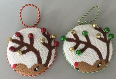 Love the bells Needlepoint Patterns, Needlepoint Canvases, Christmas Cross, Christmas Diy, Holiday Ornaments, Diy Ornaments, Xmas Cross Stitch, Christmas Embroidery, Needlework