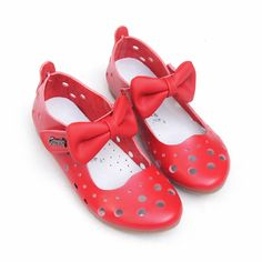 Cute Red Leather Pageant Girl Girls Birthday Party Dress Shoes Sandals SKU-133516