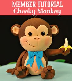 How to Make a Cheeky Monkey Cake Topper - Learn Cake Decorating Online