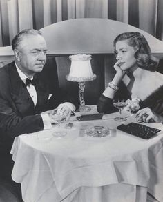 Wiliam Powell and Lauren Bacall in How to Marry A Millionaire