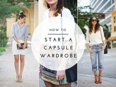 A guide to starting your own capsule wardrobe with a free workbook.