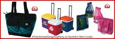 Win One Ice Cube 60 Roller, with the choice of selecting one of the collegiate licensed coolers or a plain blue cooler. One Dual Compartment 24 Cooler in Animal Print. One MaxCold Beach Bag.