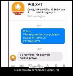 WaszePrawdy.pl - najlepszy zbiór zabawnych tekstów Funny Sms, Very Funny Memes, Funny Text Messages, Funny Texts, Polish Memes, Funny Conversations, Funny Comics, Geek Stuff, Jokes