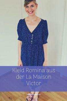 db584a29eaf295 Kleid aus Viskose nähen - Kleid Romina aus der La Maison Victor