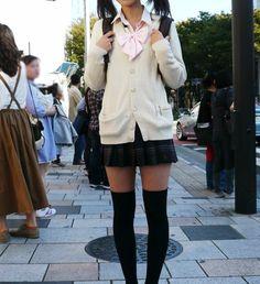cardigan and school girl skirt.