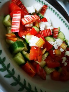 Thank you for today's boxes.  I love the Rainbow Chard and added it straight away to my feta salad with a French dressing, it was delicious. By Kathryn W Feta Salad, Caprese Salad, Rainbow Chard Recipes, French Dressing, Boxes, Food, French Dip Sauce, Crates, Essen
