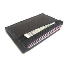 Ultra Slim 4 compartment Minimalist Front Pocket Leather Wallet & Card Holder 'Ultraz-4L Black'