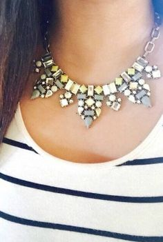 Be Beautiful Statement Necklace In Yellow 22,90 € #happinessbtq