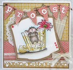 Corner of the map Gretha: Each Party A Card Challenge # 117House Mouse stamp: Chill out.