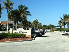 Beautiful South Beach Park on island at Fort Pierce, FL