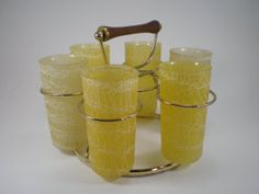 6 Spaghetti String Glasses in Carrier Color Craft by PJsParadise, $40.00