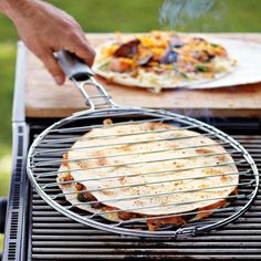 Quesadilla grill basket... I think this might be a must have for this summer!