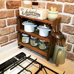 Dream Furniture, Diy Furniture, Diy Interior, Kitchen Interior, Diy Home Crafts, Diy Home Decor, Kitchen Dinning, Vintage Kitchen Decor, Wooden Crates